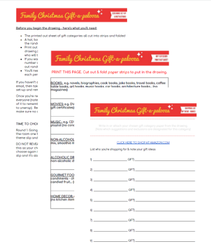Great Family Christmas Gift Exchange Idea