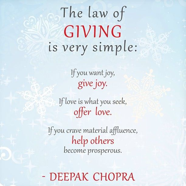 law of giving